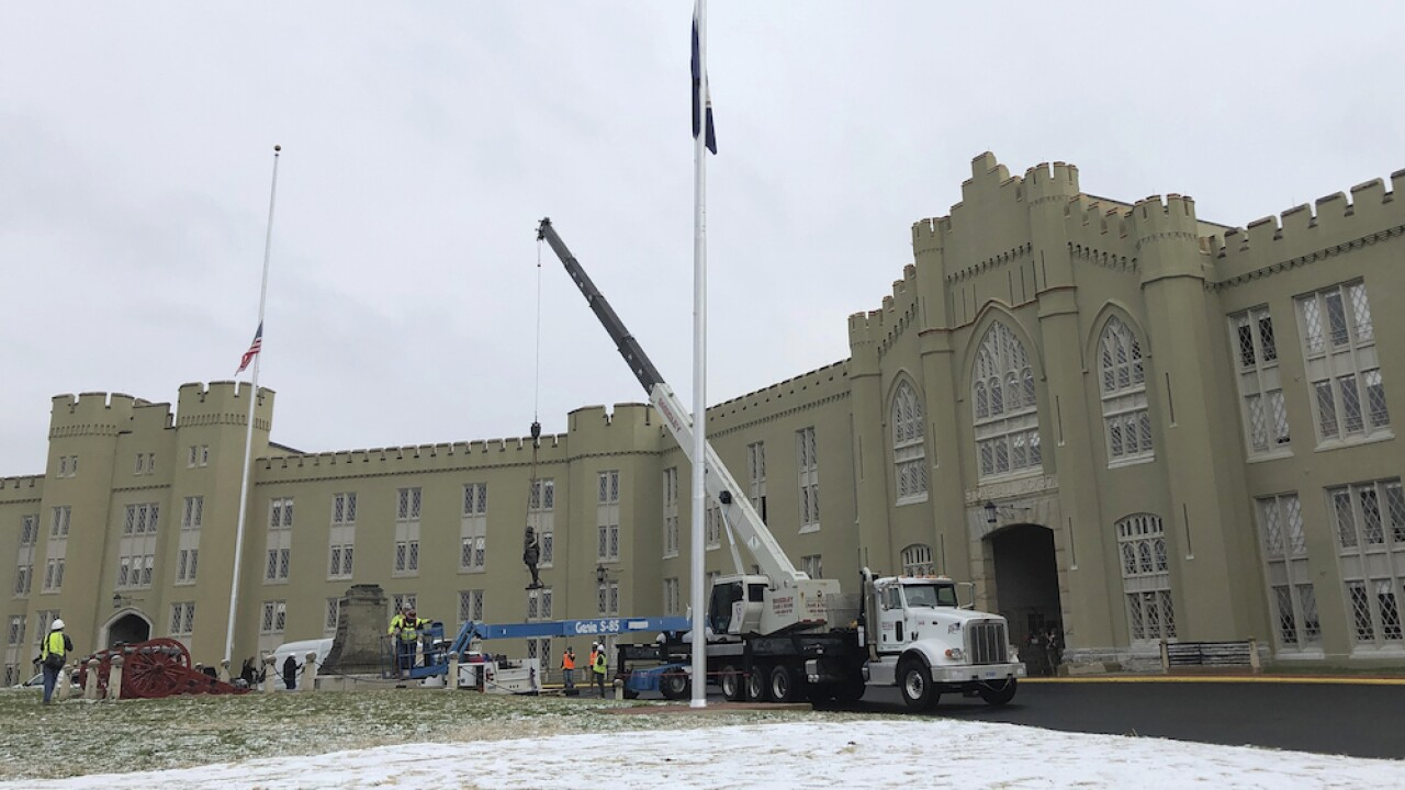 Virginia Military Institute removes statue of Confederate general Stonewall Jackson
