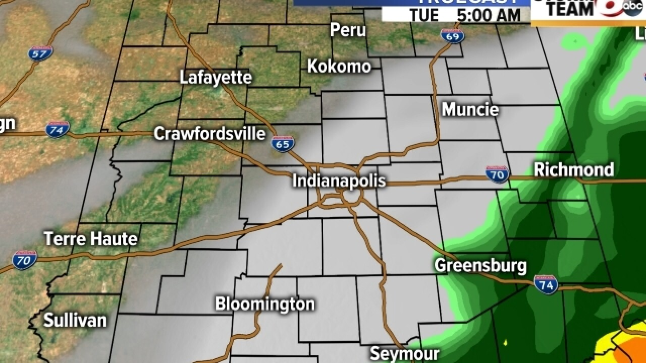 TIMELINE: Rain & cold across central Indiana