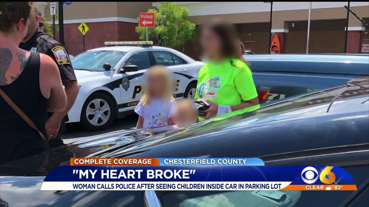 'My heart broke' 2-year-old toddlers left alone in unlocked car in Chesterfield parkinglot