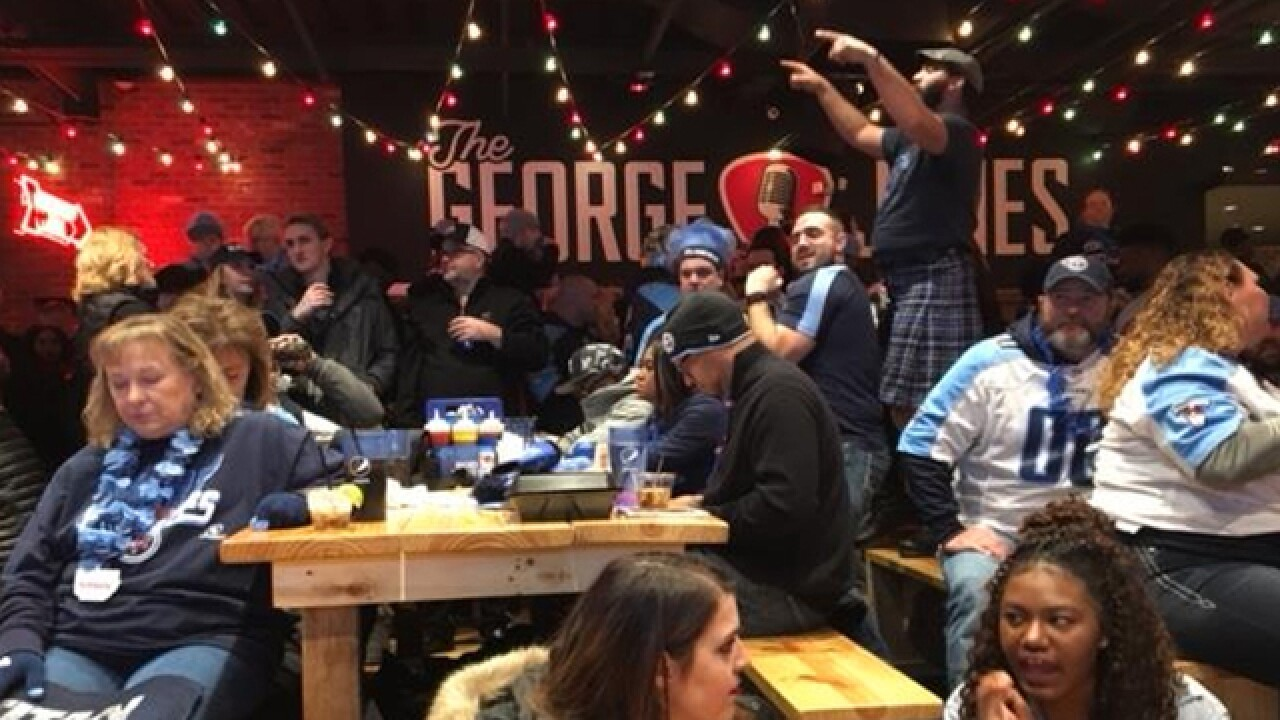 Fans Watch Titans Game At The George Jones