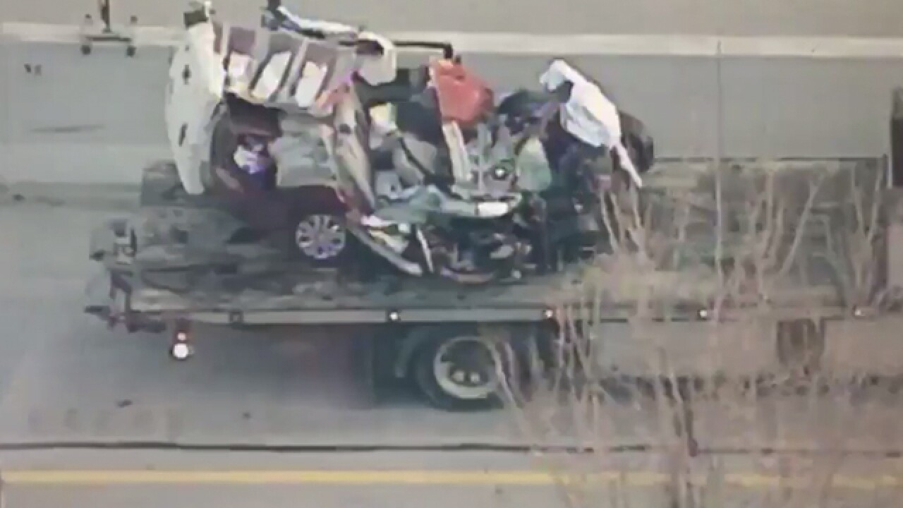 Woman survives crash with semi-trailer on the Ohio Turnpike