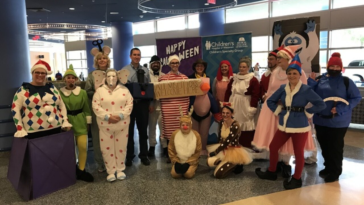 Doctors wear costumes at Children's Hospital