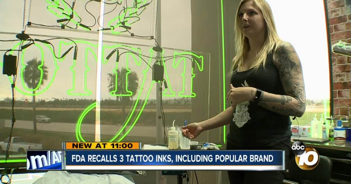 Popular tattoo ink recalled by FDA due to contamination