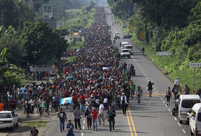 Migrant caravan travels across Mexico