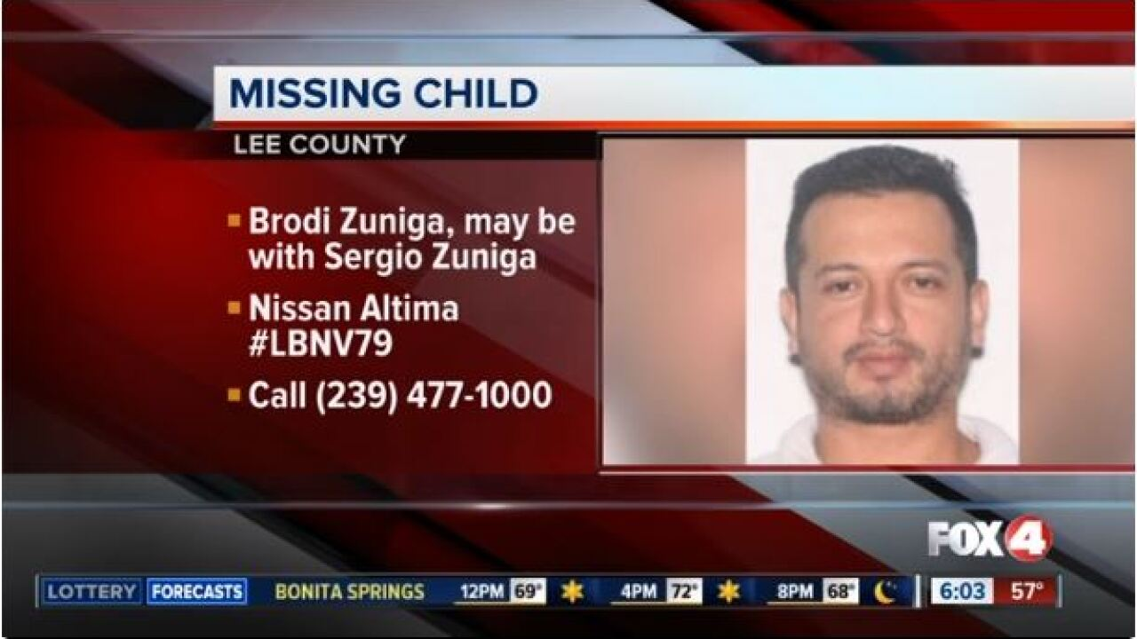 Police search for missing child