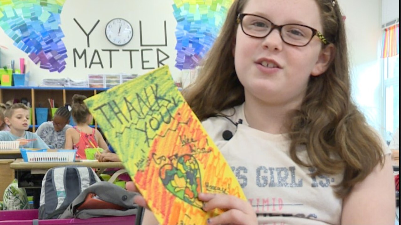 Virginia Beach 4th graders write cards to give back to first responders and hospitalstaff