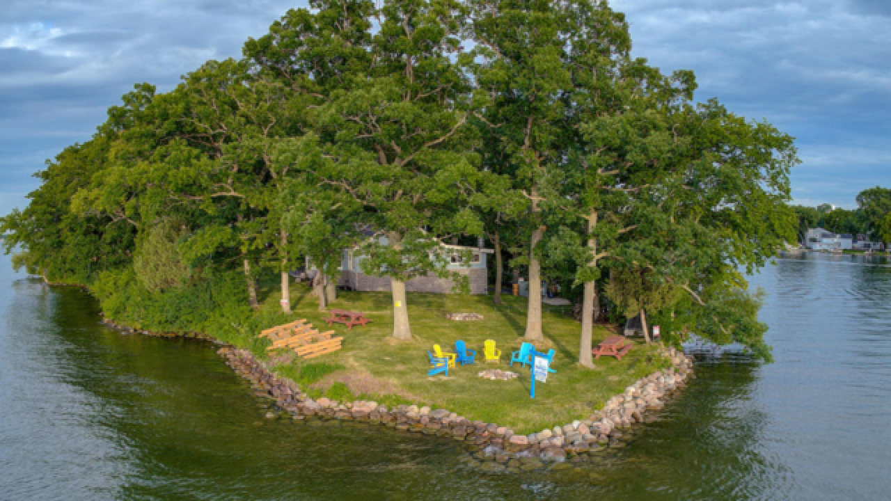 Own your own private island on Pewaukee Lake