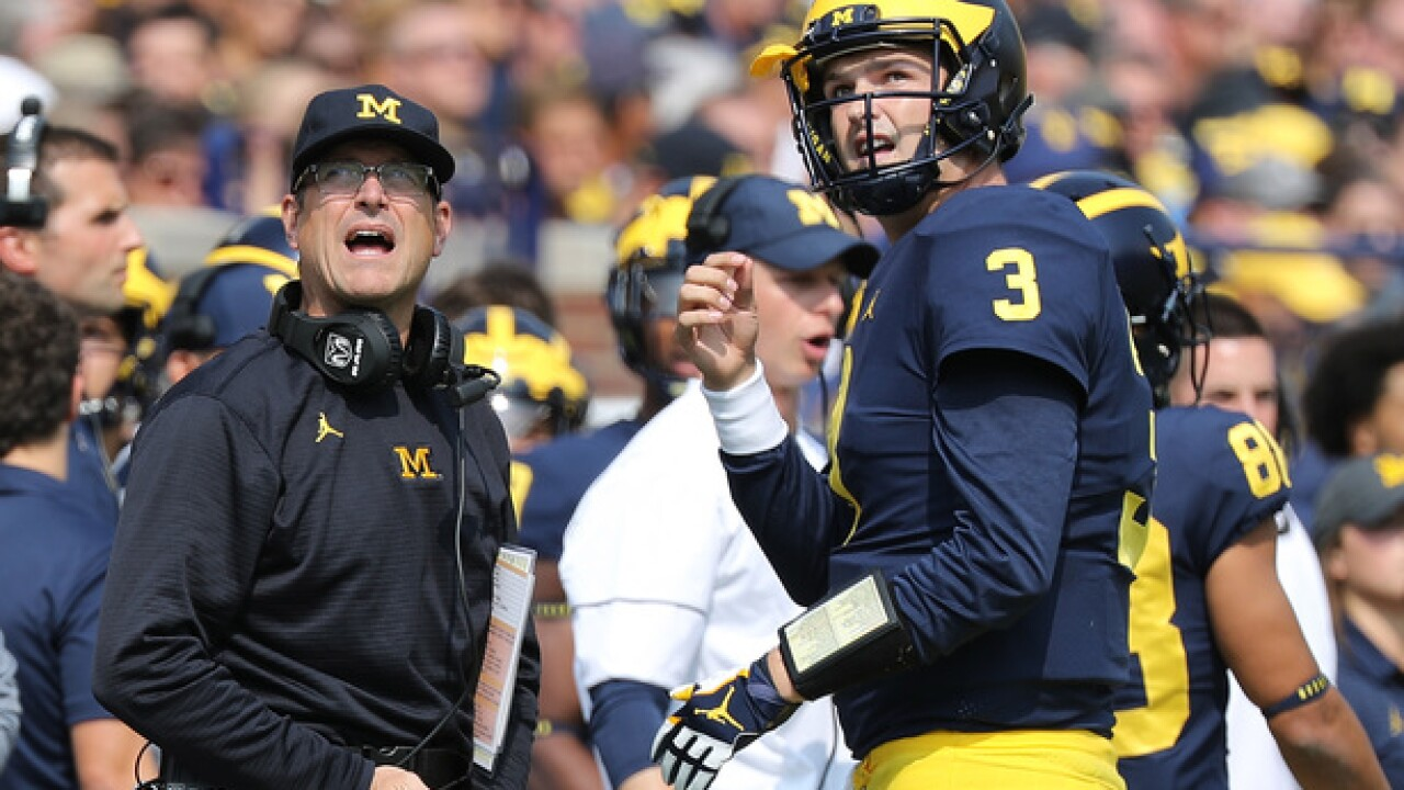 Jim Harbaugh reportedly told Wilton Speight not to eat chicken 'because it's a nervous bird'