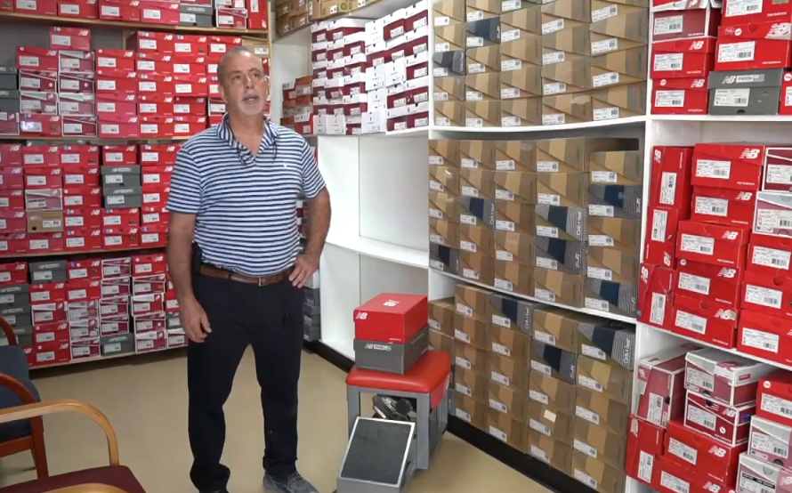 Peter Arena donated running shoes