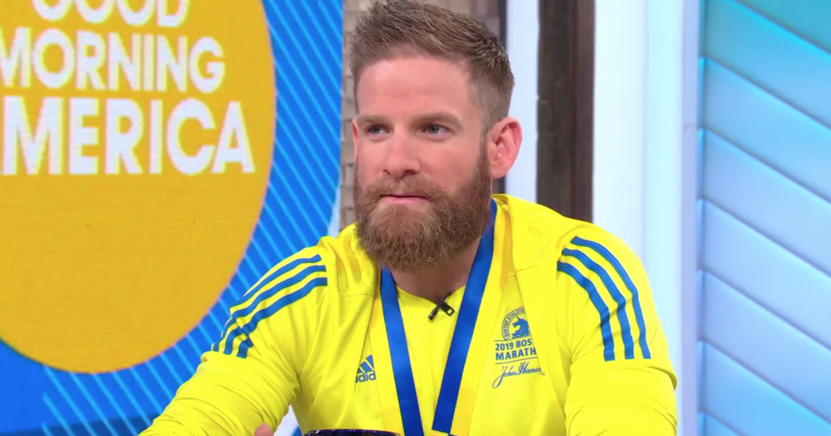 Tallmadge veteran who crawled across Boston Marathon finish line appears on GMA