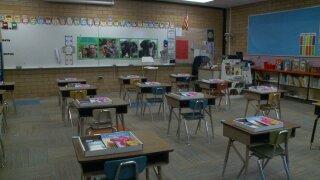 Granite socially distant classroom