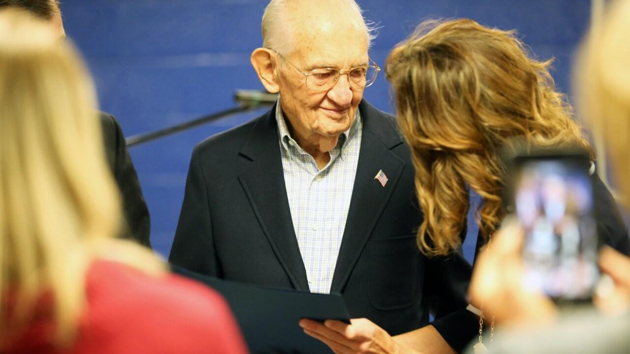 Hanover veteran gets diploma after World War II kept him fromgraduation