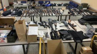 Large Firearms Cache Seized by El Cajon Police