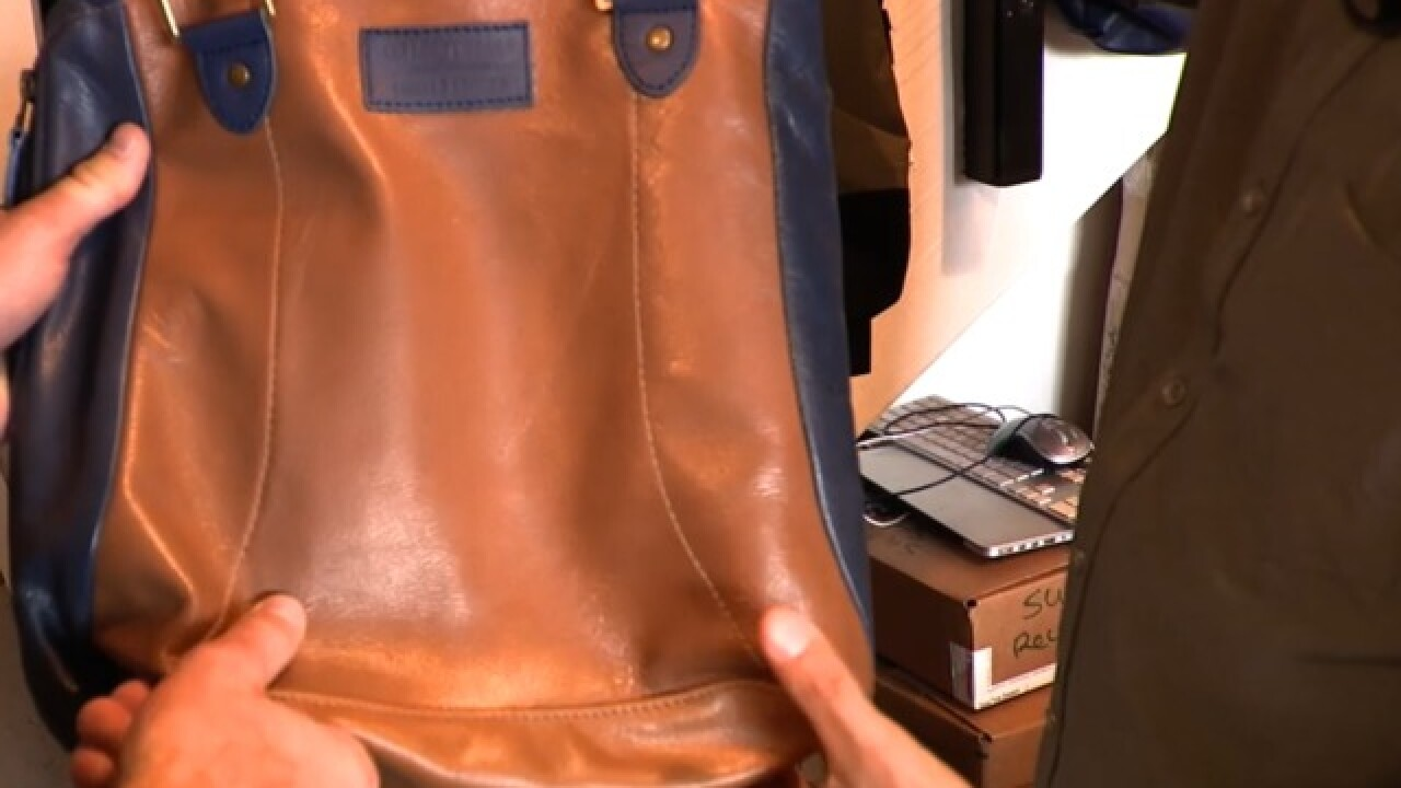 Upcycle company partners with airline to turn old leather seats into bags