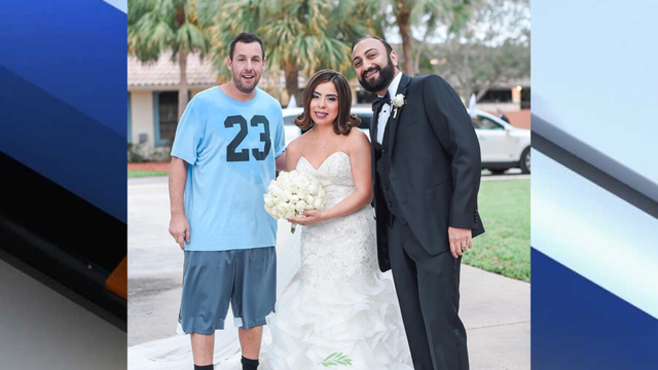 Adam Sandler surprises newlyweds in Boca