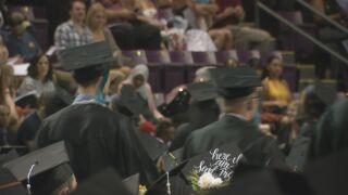 Students of the University of Colorado Colorado Springs graduating in 2019.