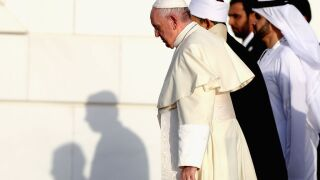 Pope Francis ignores question about ordaining married men as priests
