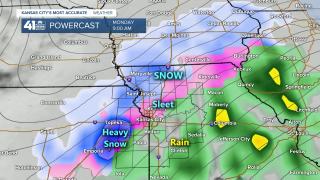 Surface Forecast Valid 9 AM Monday