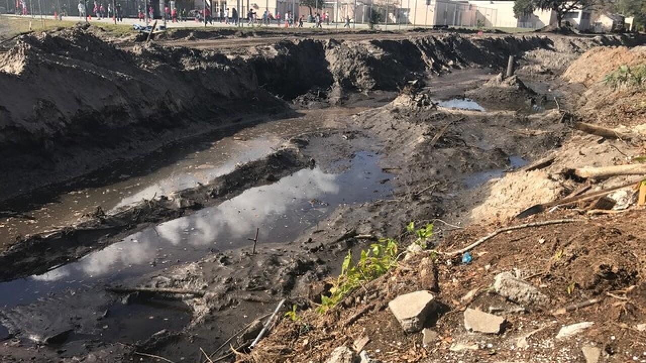 Clearwater creek erodes, puts school on edge