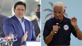 Ron DeSantis and Charlie Crist