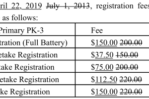 PreKindergarten Primary PK-3 Proposed Fees