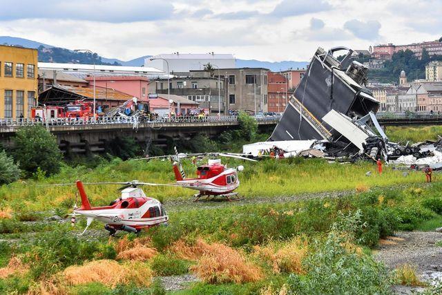 Photos: The Morandi Bridge collapse in Genoa, Italy