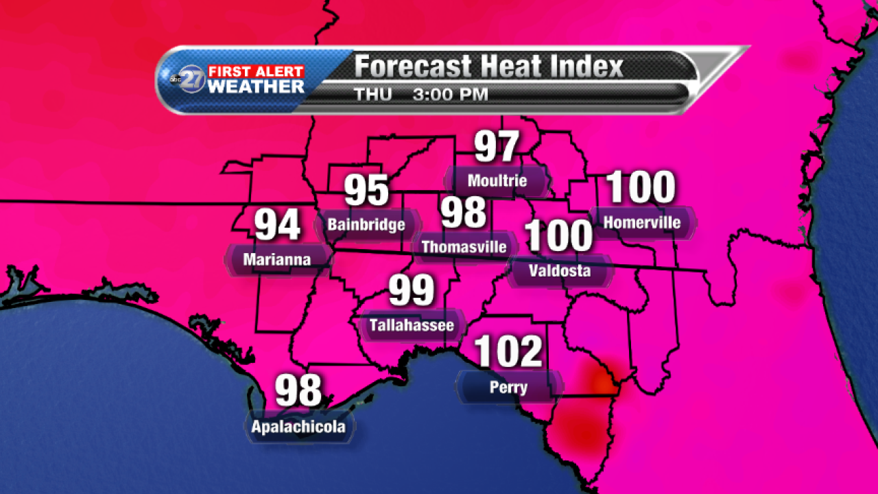 Forecast Heat Index (08/24/2017)