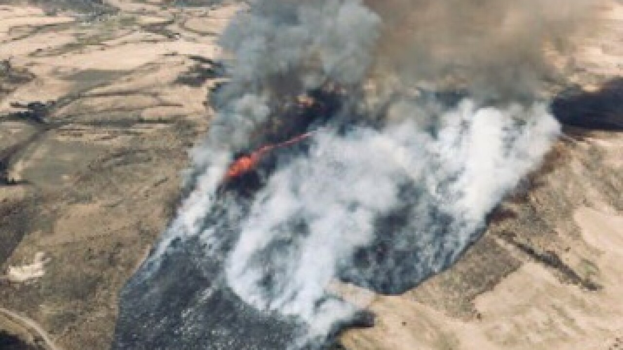 Evacuations due to fire south of Soda Springs