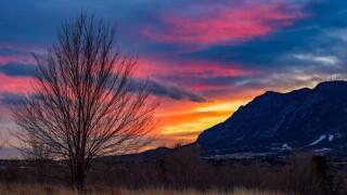 Cheyenne Mountain sunset