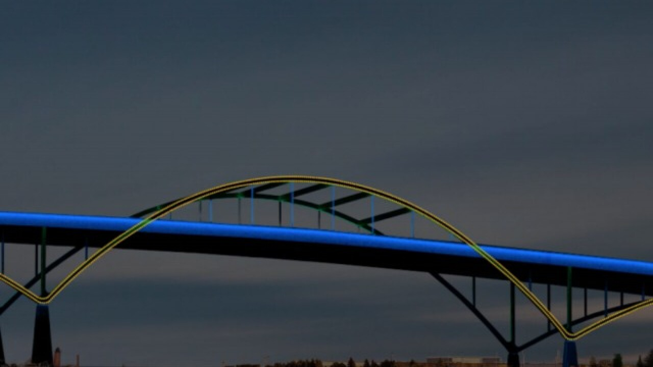 Light the Hoan: A portion of the bridge to be illuminated this week