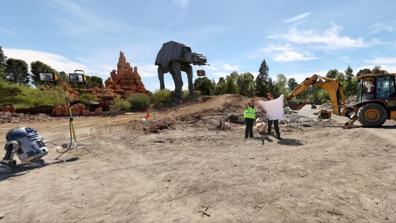 Star Wars land is officially under construction at Disneyland