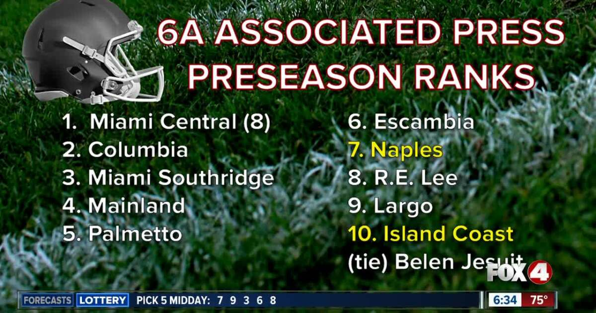 Naples High ranked #7 in state preseason football poll