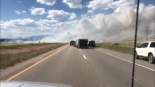 Truck fire on I-25