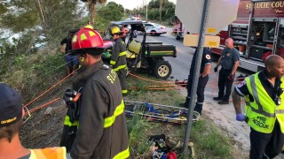 One woman was killed and another injured in a crash at Walton Road and Indian River Drive in St. Lucie County Saturday night.