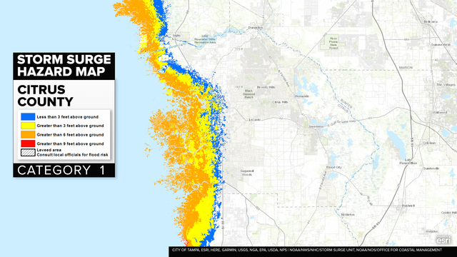 HURRICANE IRMA: Bay Area storm surge maps