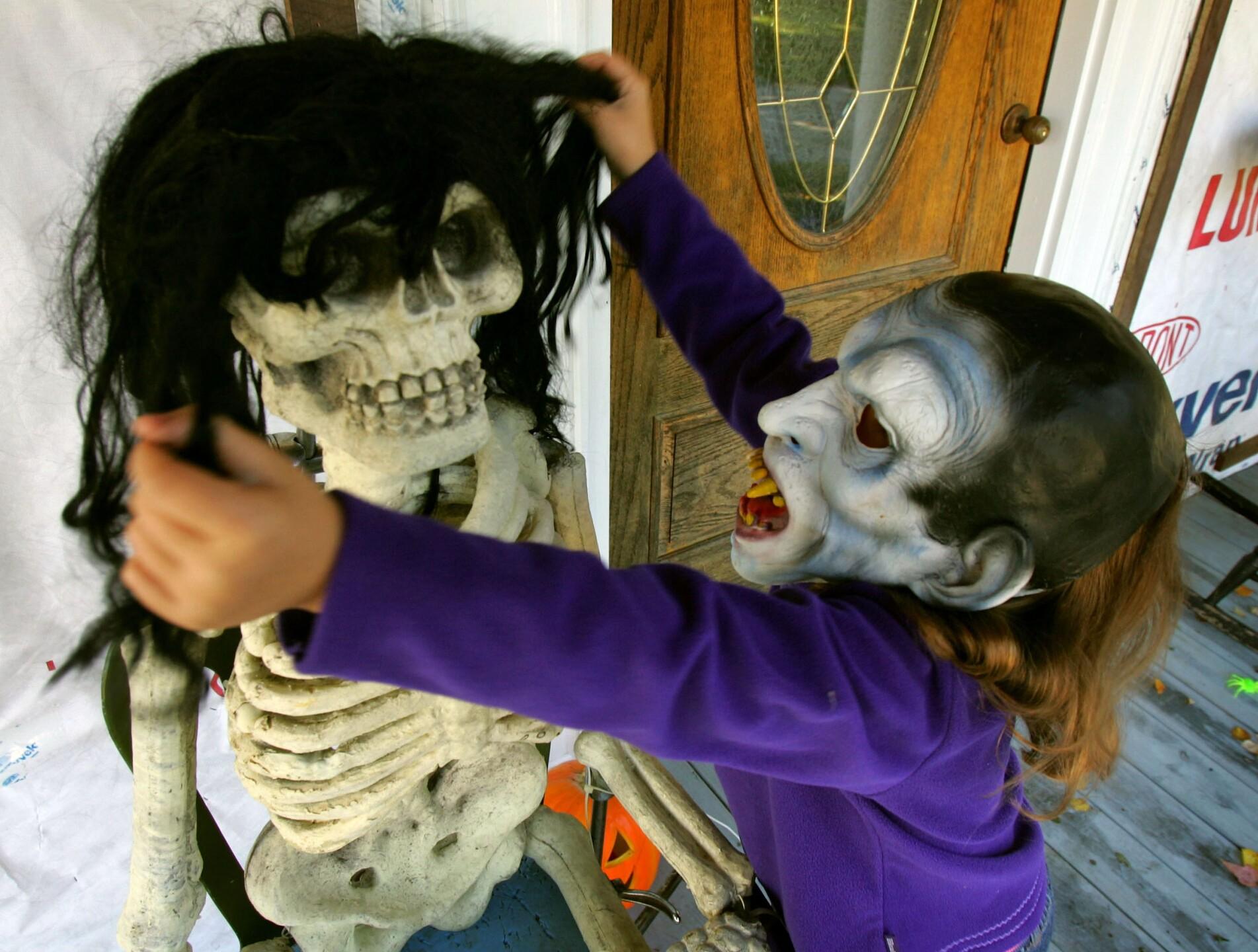 Halloween Decorations Begin Going Up