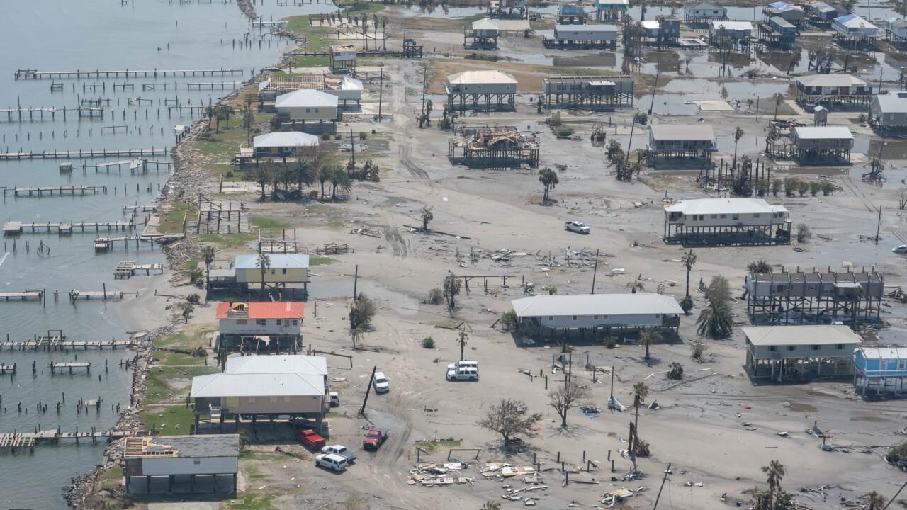 Grand Isle levee under repair post Ida