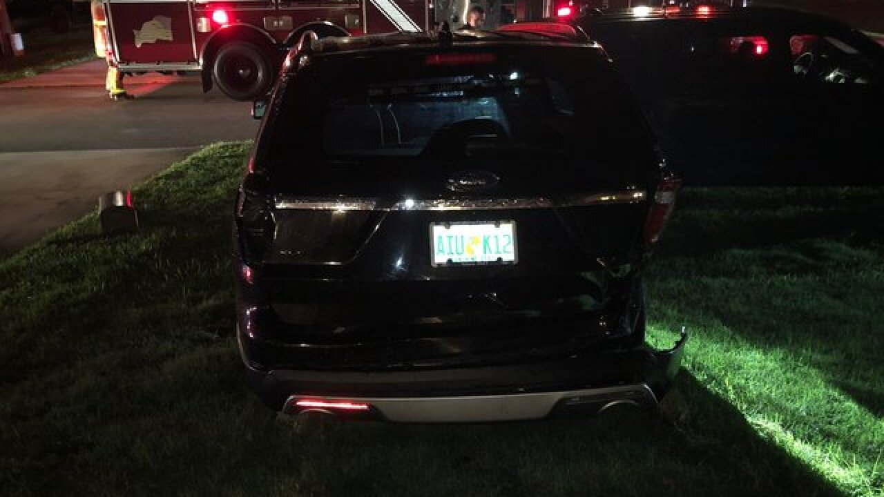 Drunk driver crashes into unmarked police cars