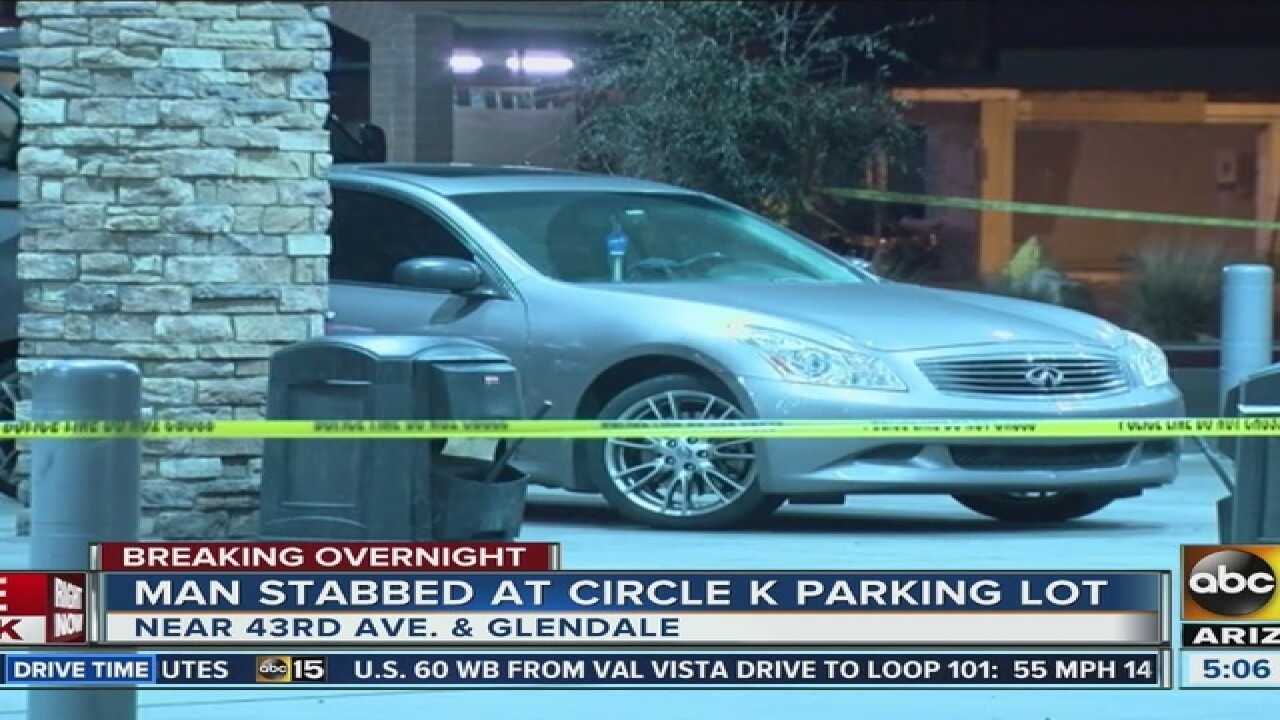 PD: Man injured in Glendale Circle K stabbing