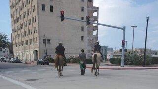 Attorney demands release of Galveston police body cam video of horseback arrest