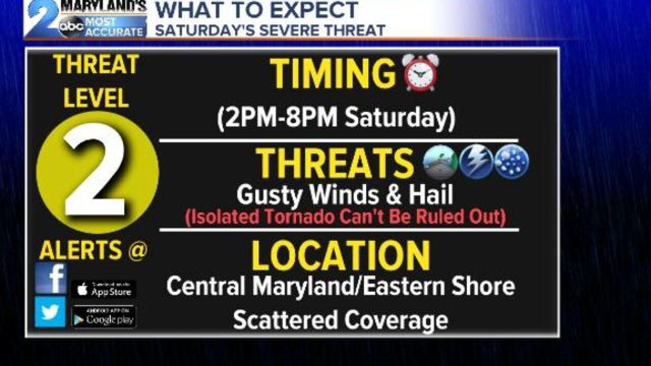 WEATHER ALERT DAY-Saturday's Severe Threat