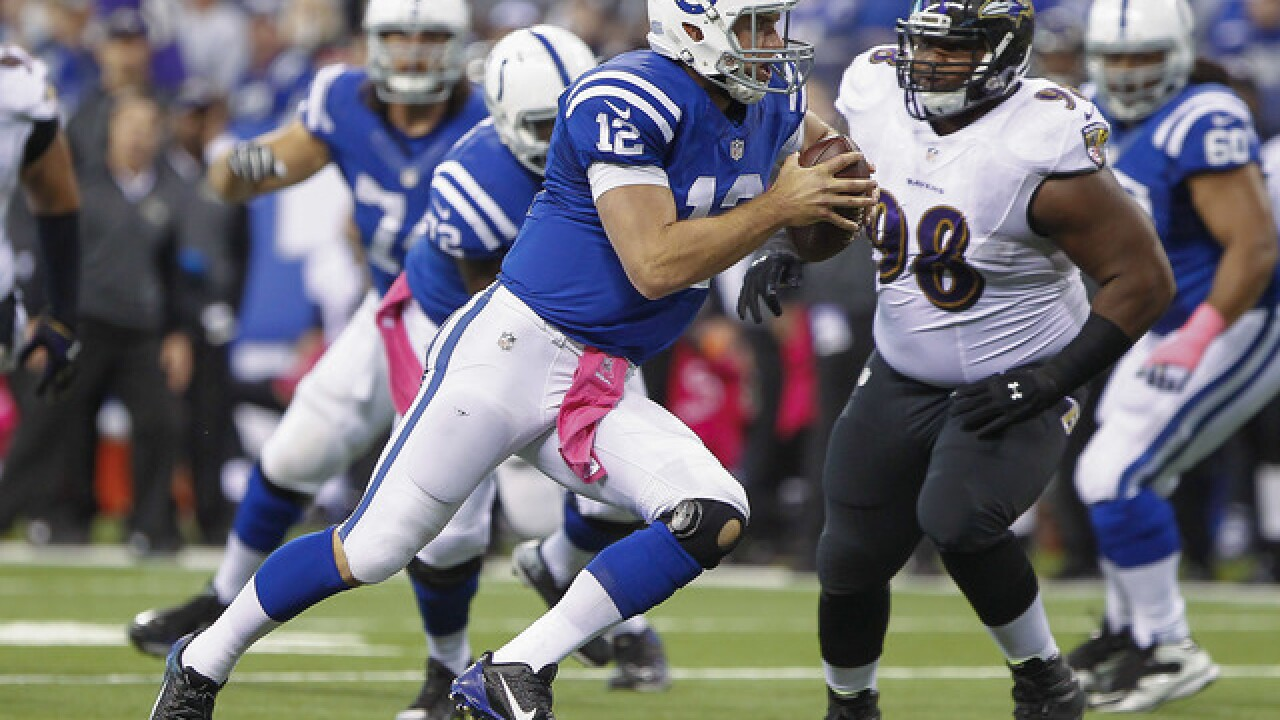 Practice scuffle puts Colts, Ravens in opposite corners