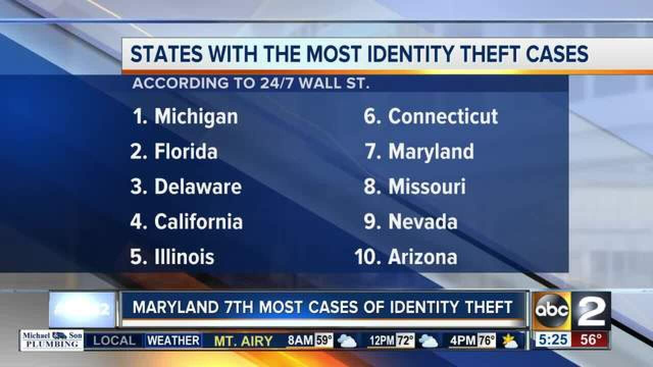 MD makes top 10 in identity theft cases