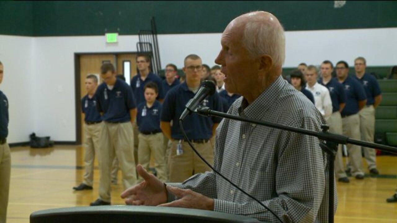 Utah Military Academy honors former POW Lt. Col. JayHess