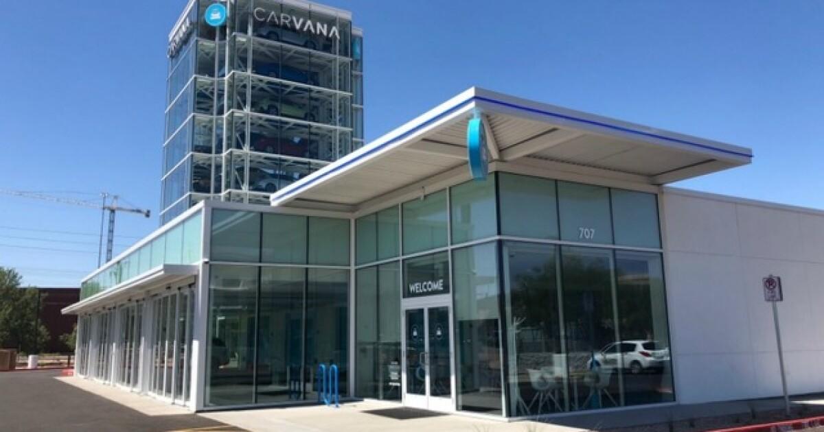 Car vending machine: Take a tour of Carvana's 9-story car