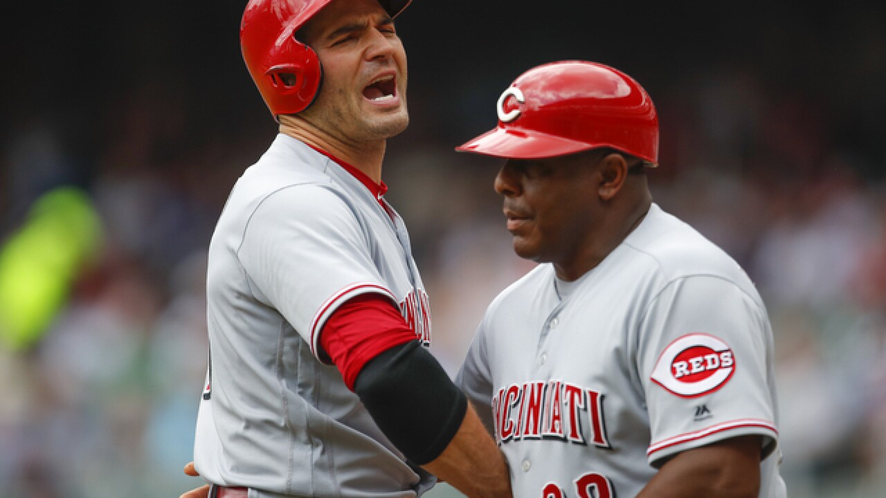 Reds' Joey Votto ejected vs. Braves for arguing called 3rd strike