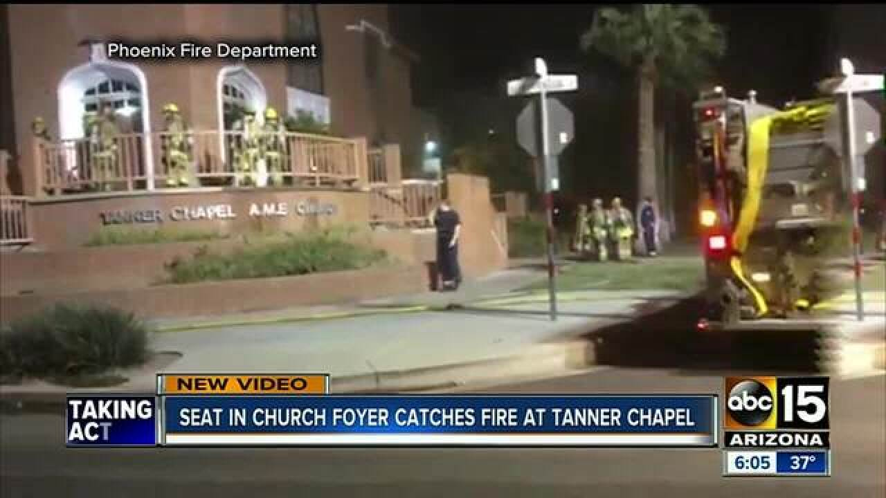 PHX FD investigating downtown church fire