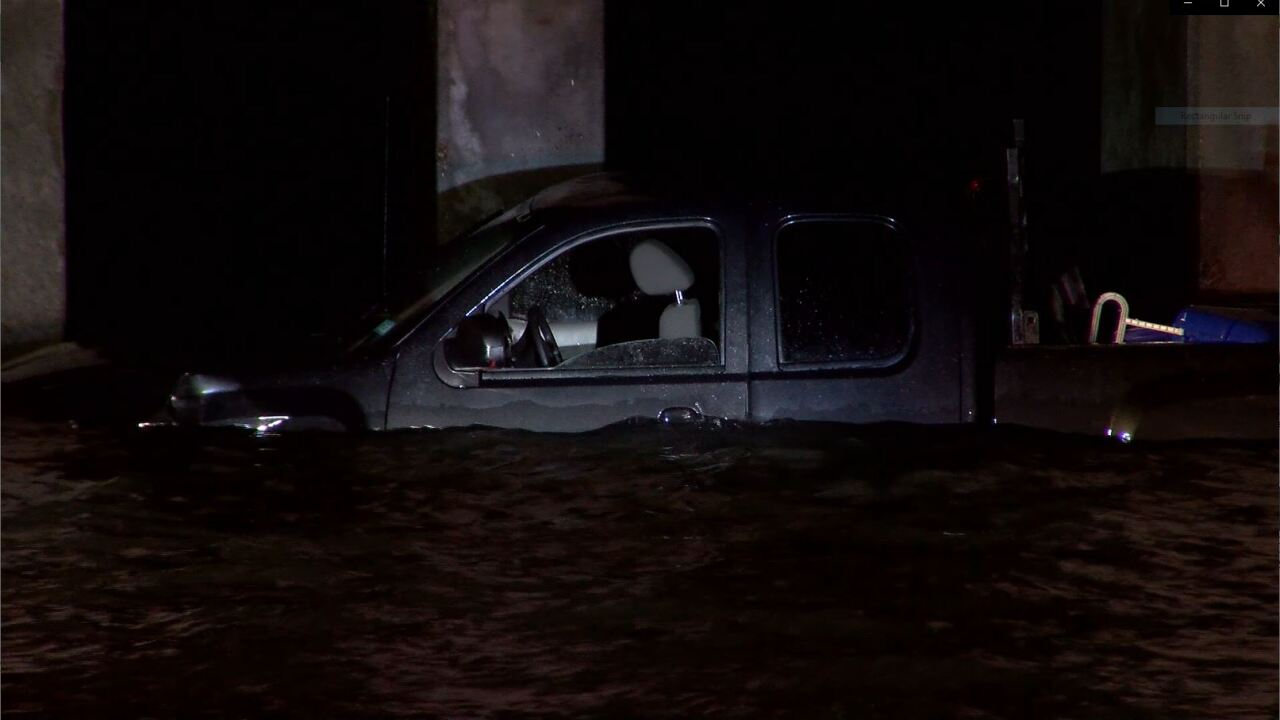 Police chase ends with suspect driving into Laguna Madre