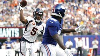 Bridgewater throws 2 TDs, Broncos win season opener vs. Giants 27-13