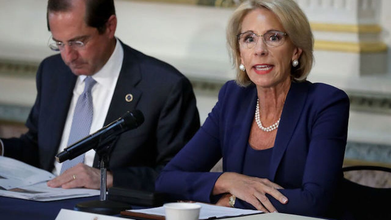 Trump admin disputes NYT report on Education Department plan to arm teachers
